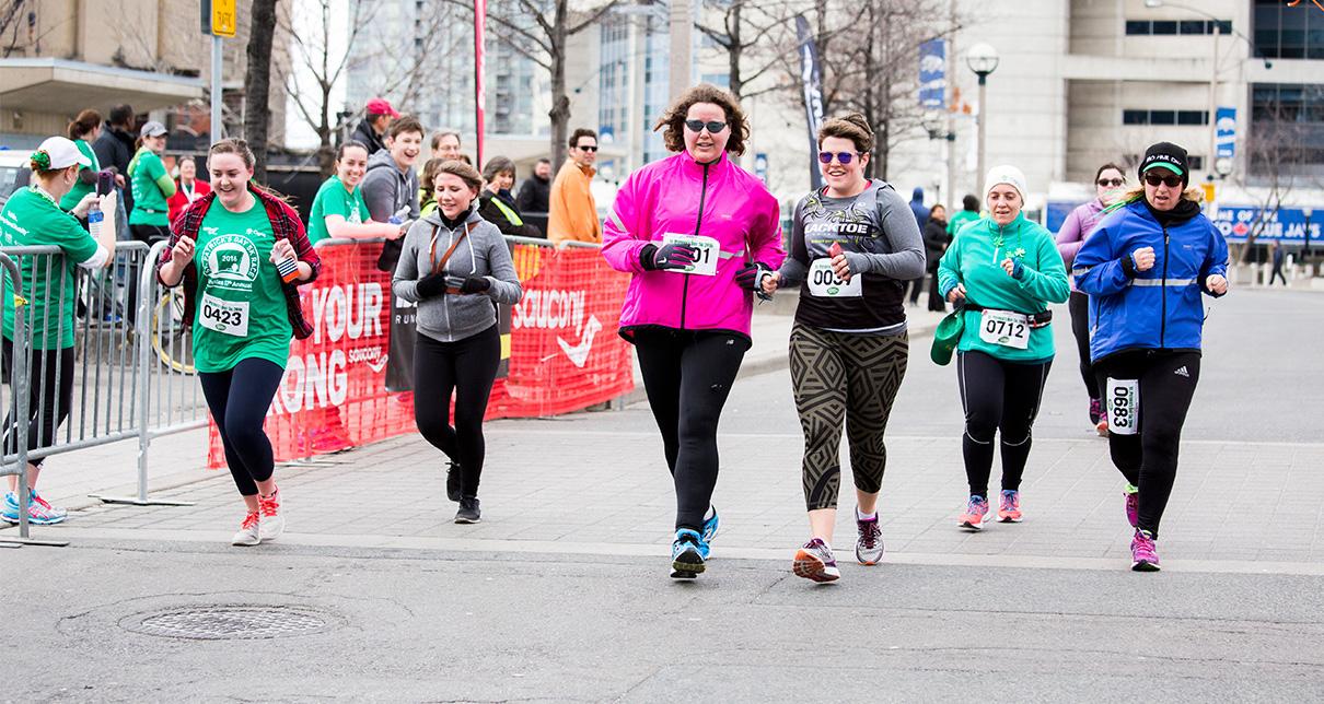 Achilles Canada athletes running