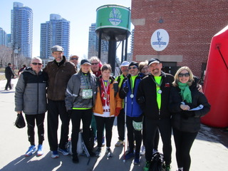 A group of Achilles Athletes at the Steam Whistle Toronto brewery